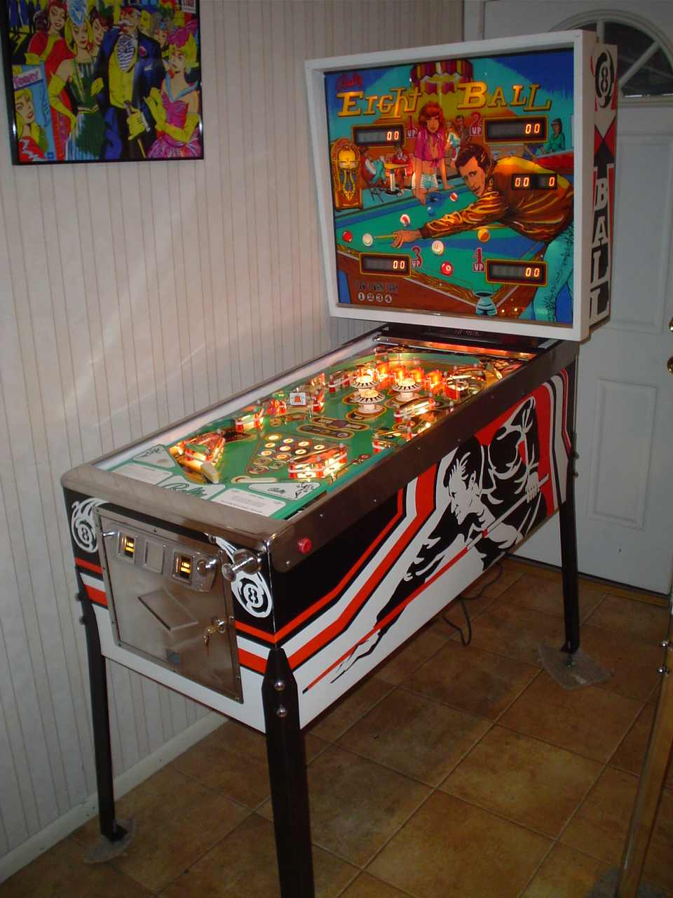 bally eight pinball machine