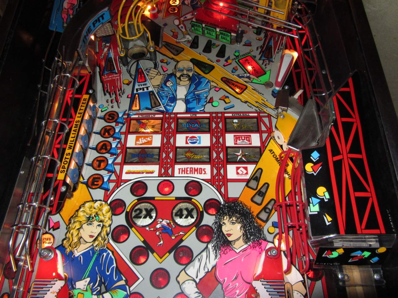 Williams Rollergames Pinball Machine 3 Pinballmania Llc