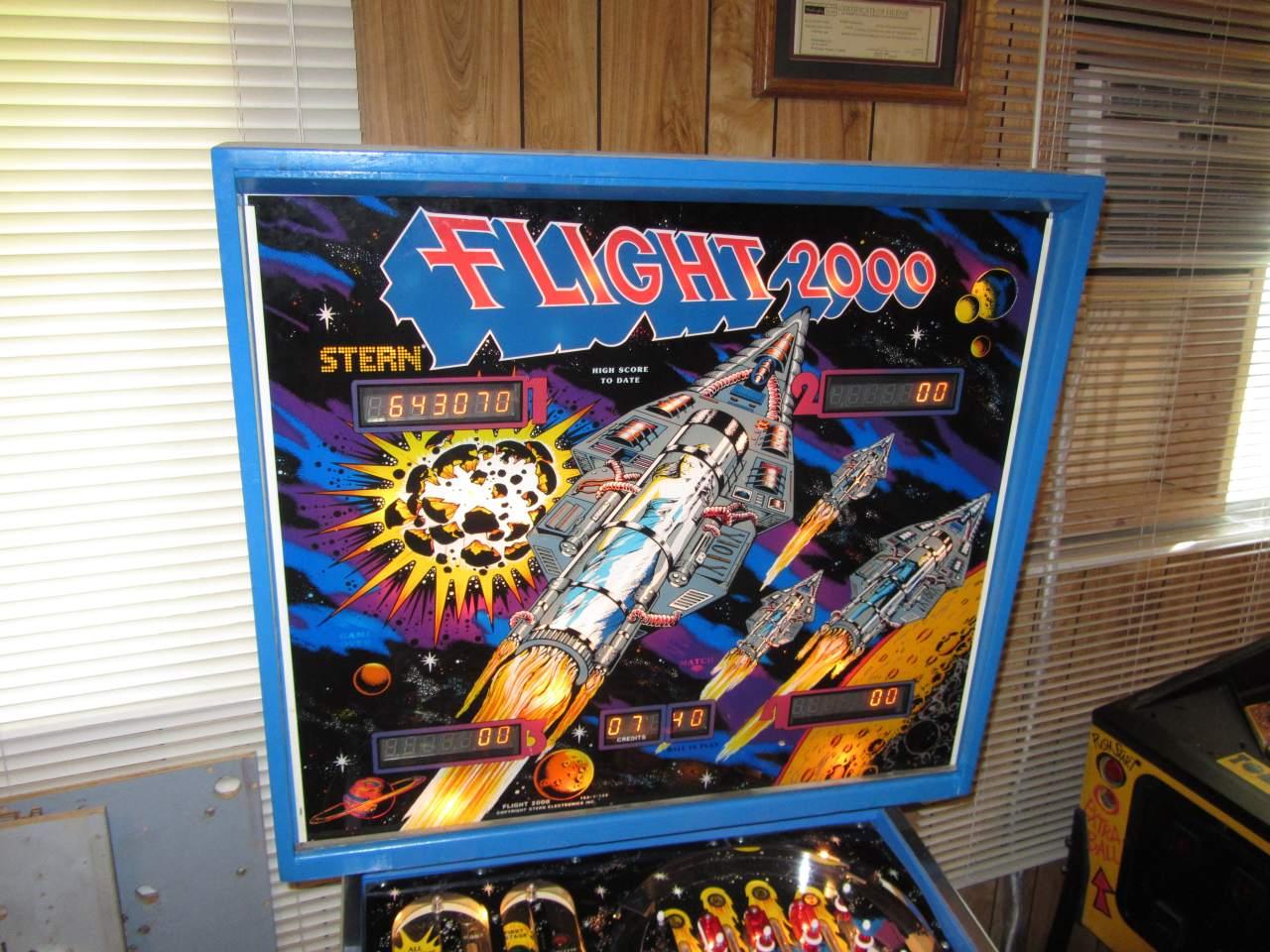 Stern Flight 2000 Pinball Machine 1 Pinballmania Llc