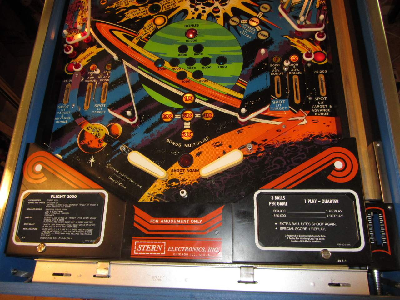 Flight 2000 Pinball manual
