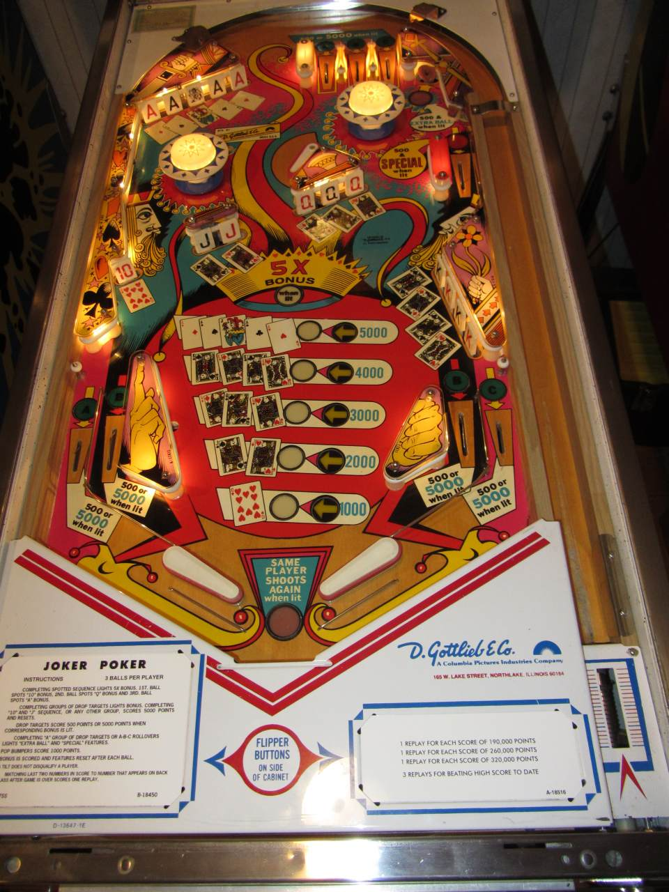 Gottlieb Joker Poker Pinball Machine #1 - Pinballmania LLC
