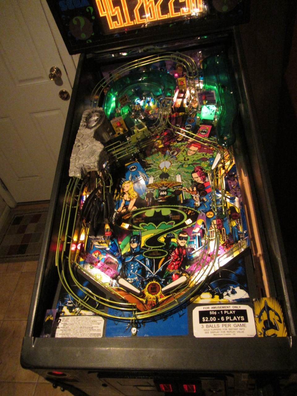 Sega Batman Forever Pinball Machine 2 Pinballmania Llc