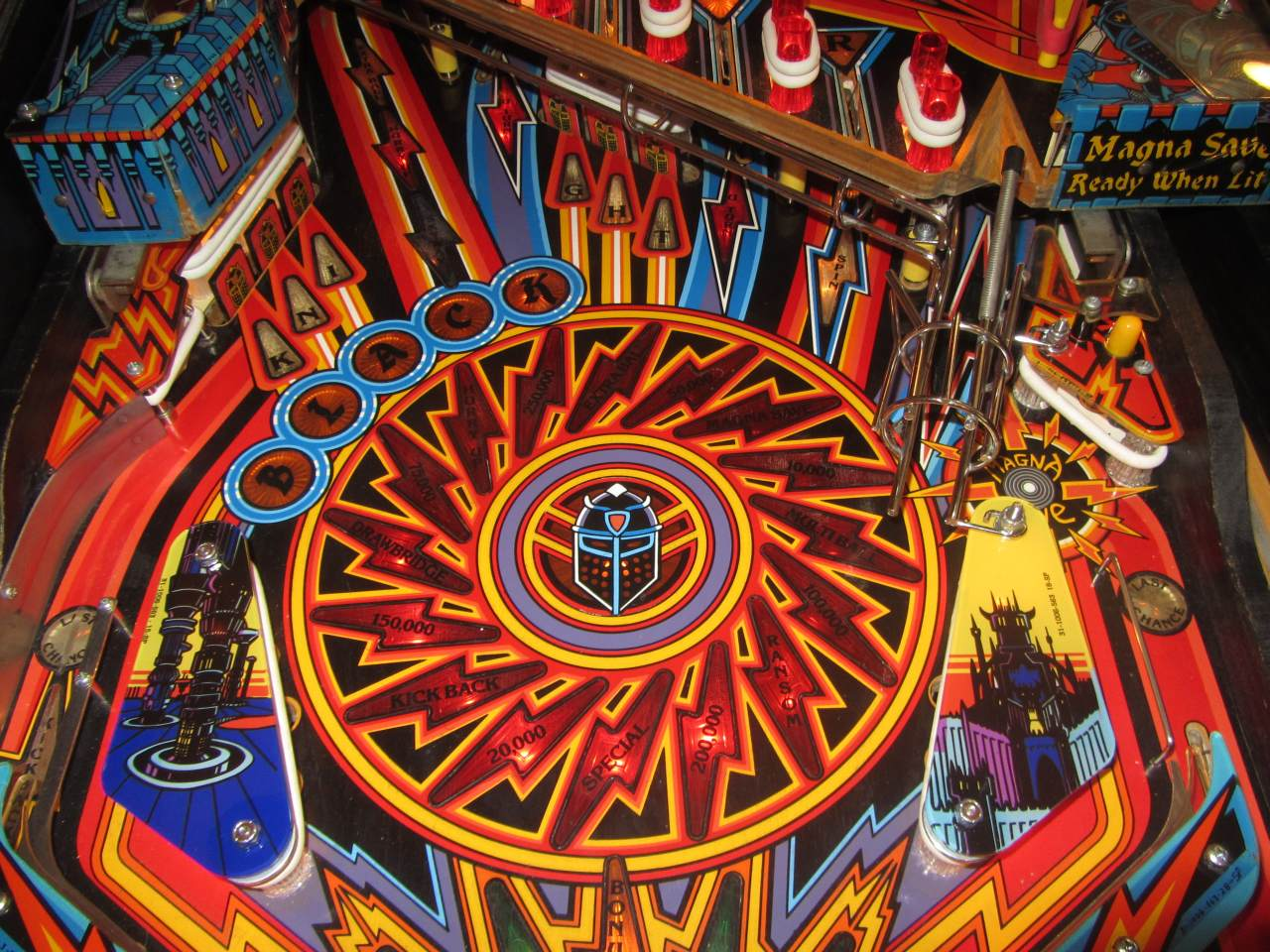 Williams Black Knight 2000 Pinball Machine 2