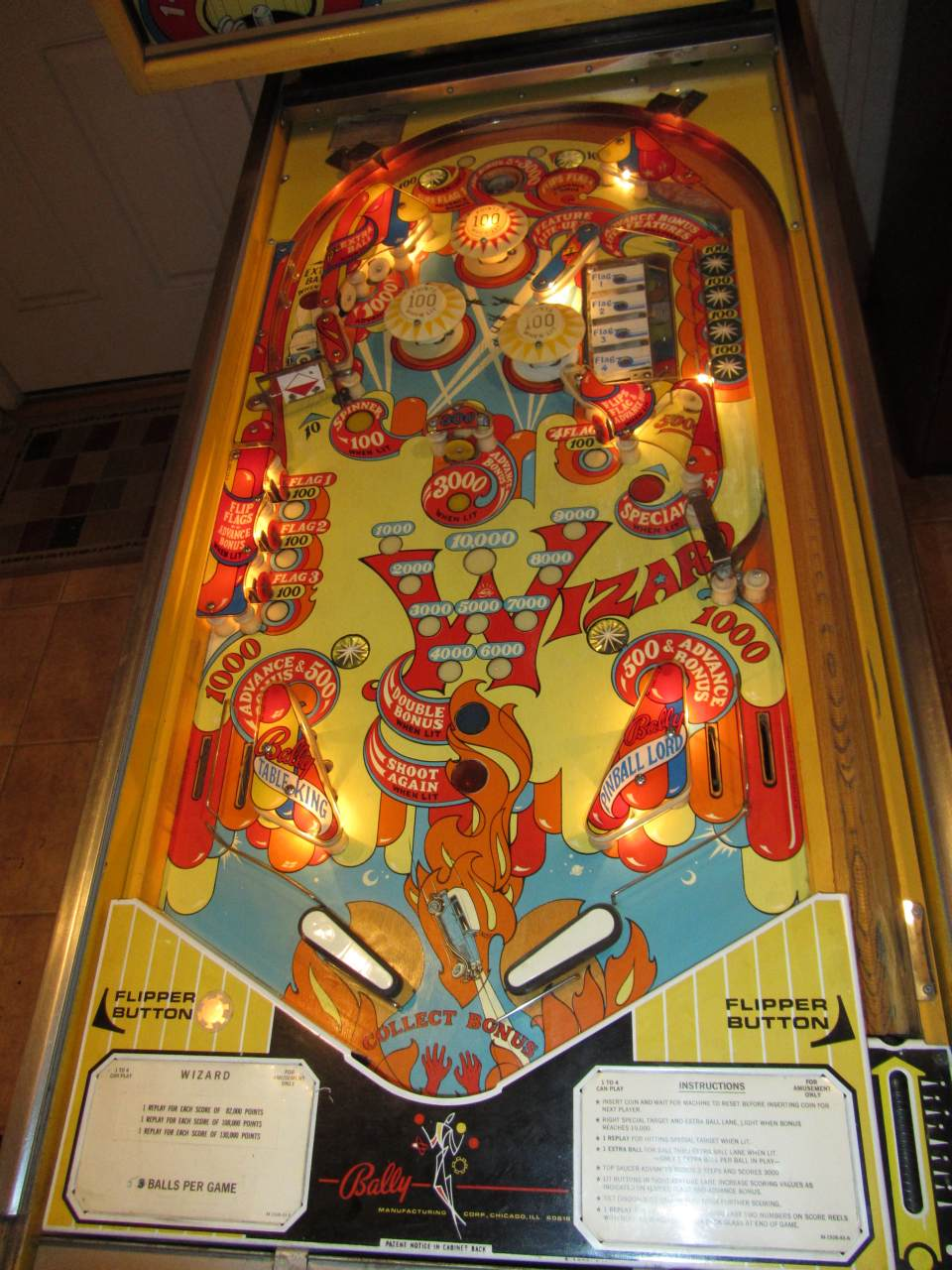 Bally Wizard Pinball Machine 2 Pinballmania Llc