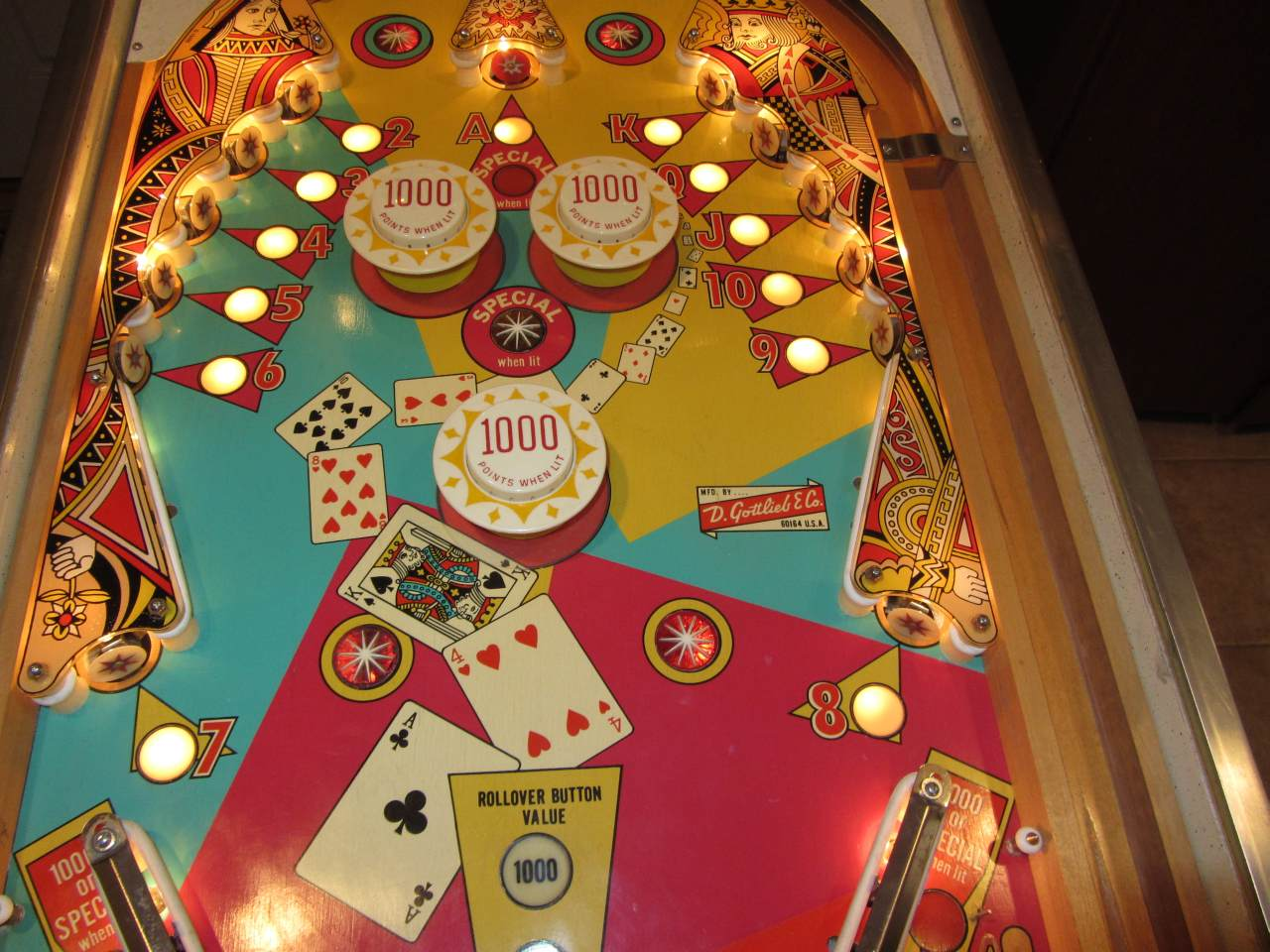 top card pinball machine for sale