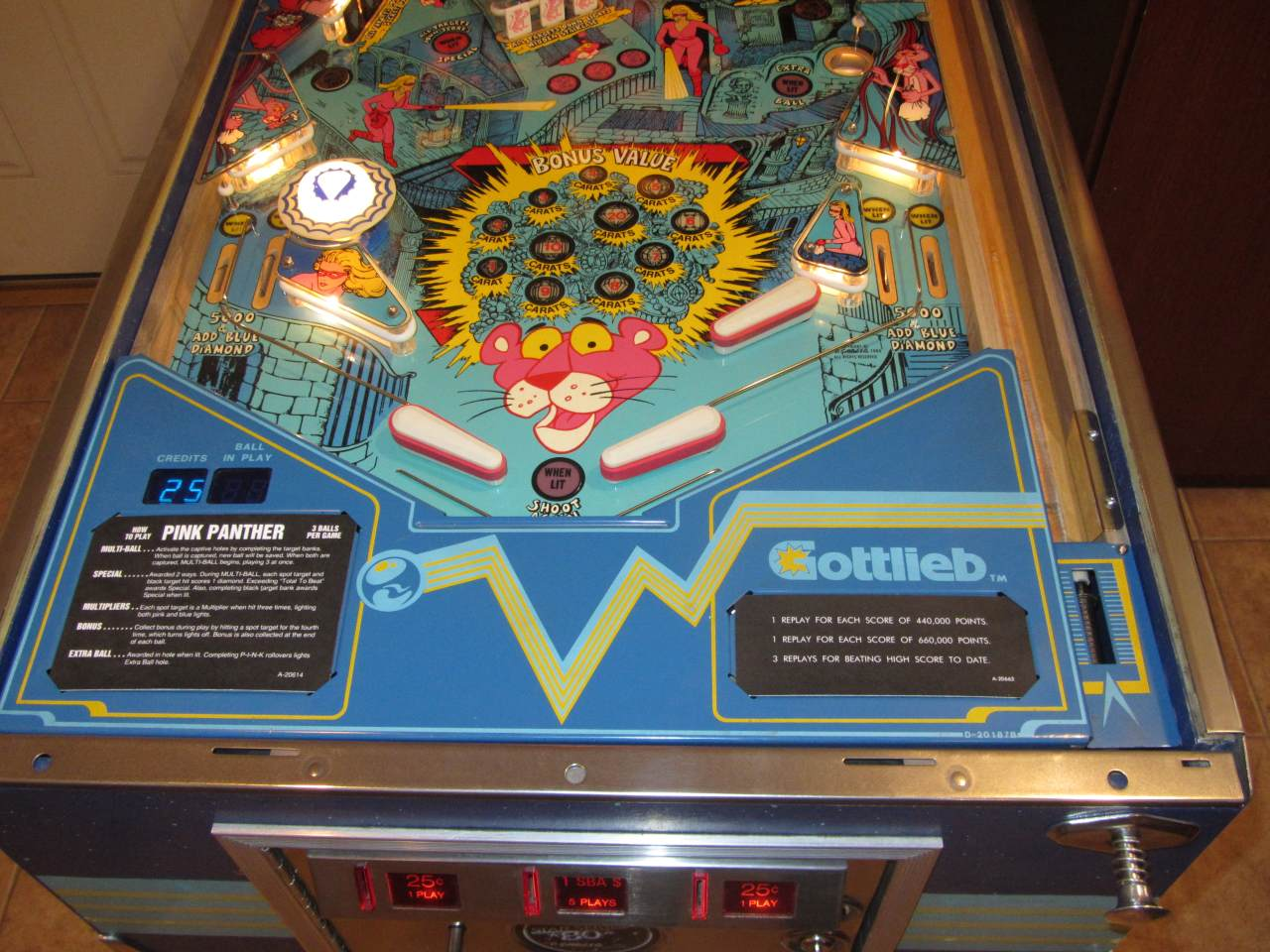 Gottlieb Pink Panther Pinball Machine 1 Pinballmania Llc