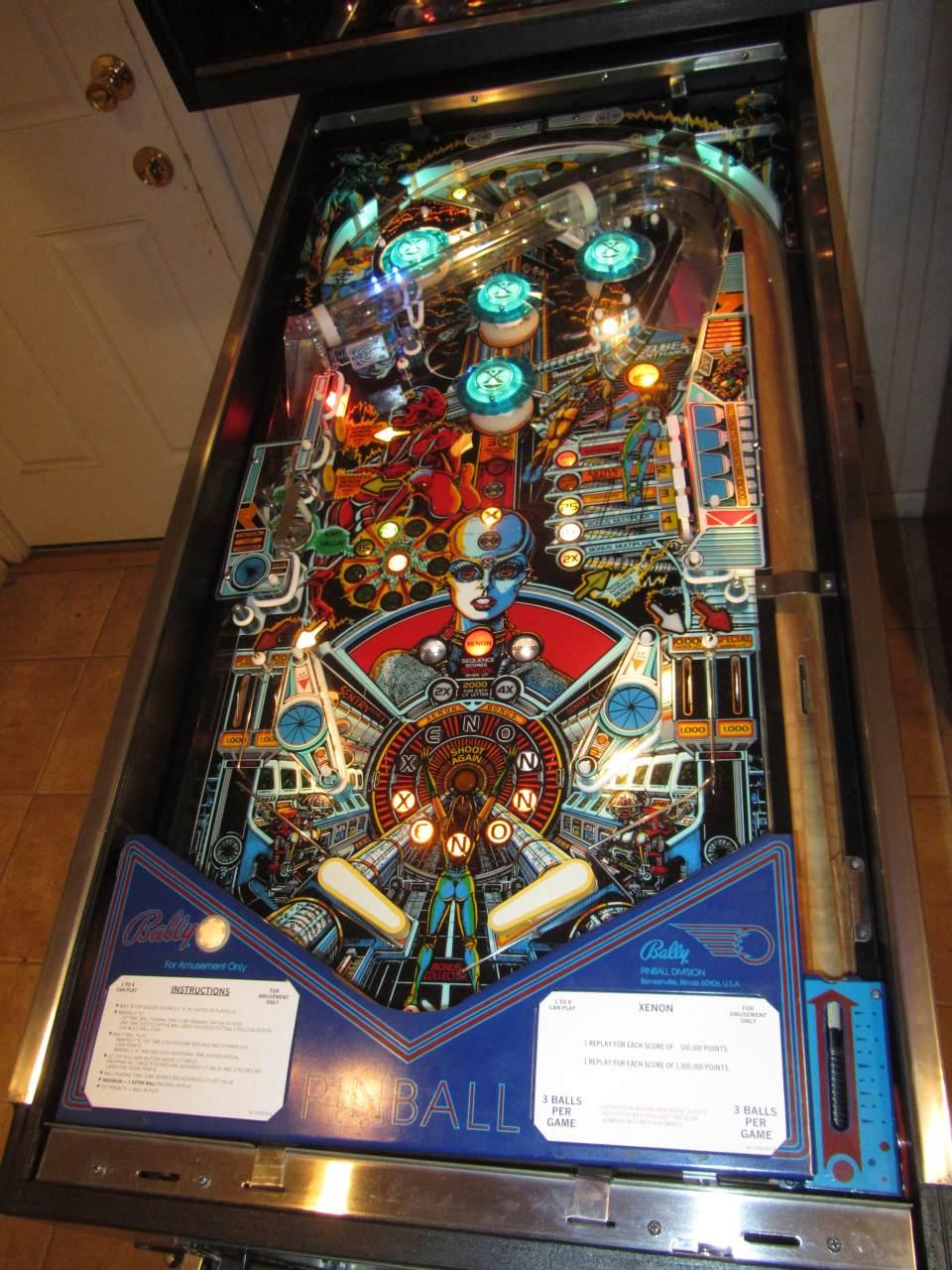 Bally Xenon Pinball Machine 2 Pinballmania Llc