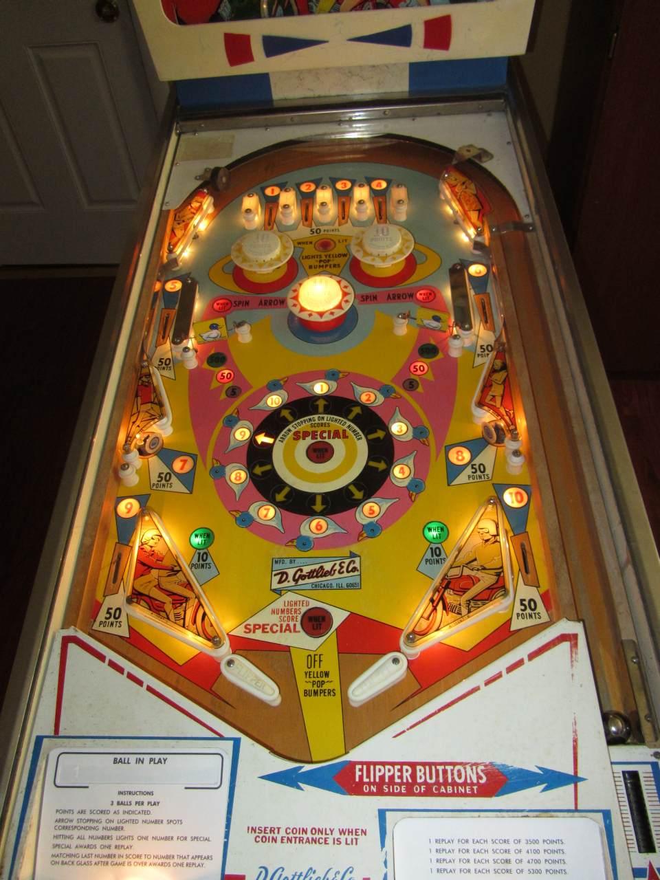 gottlieb pinball machine parts