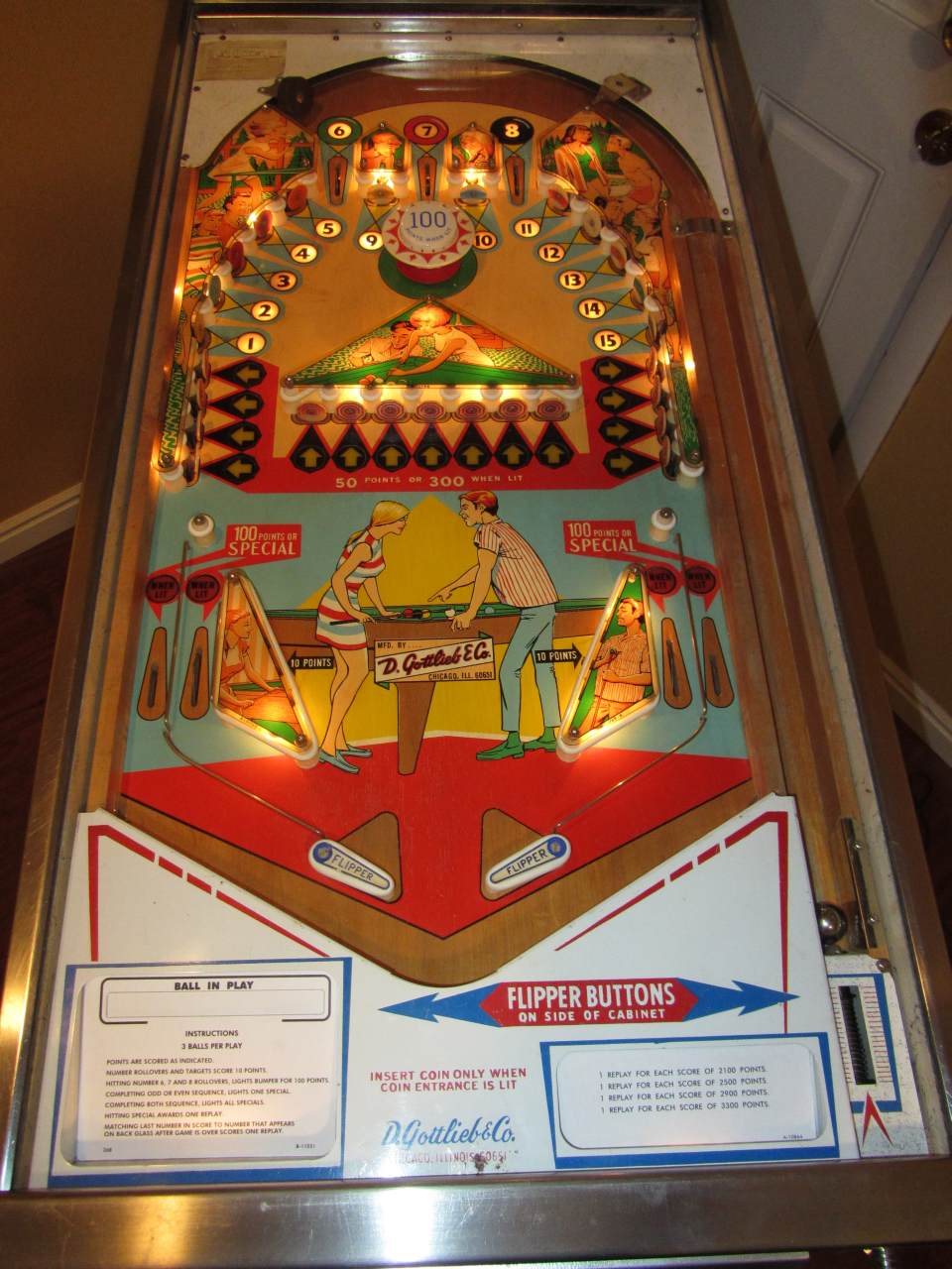 Gottlieb Target Pool Pinball Machine 1 Pinballmania Llc