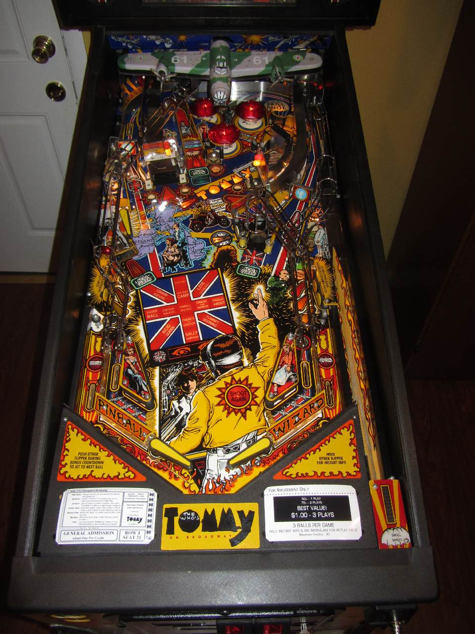Matrix Auto Sales >> Data East The Who's Tommy Pinball Wizard Pinball Machine ...
