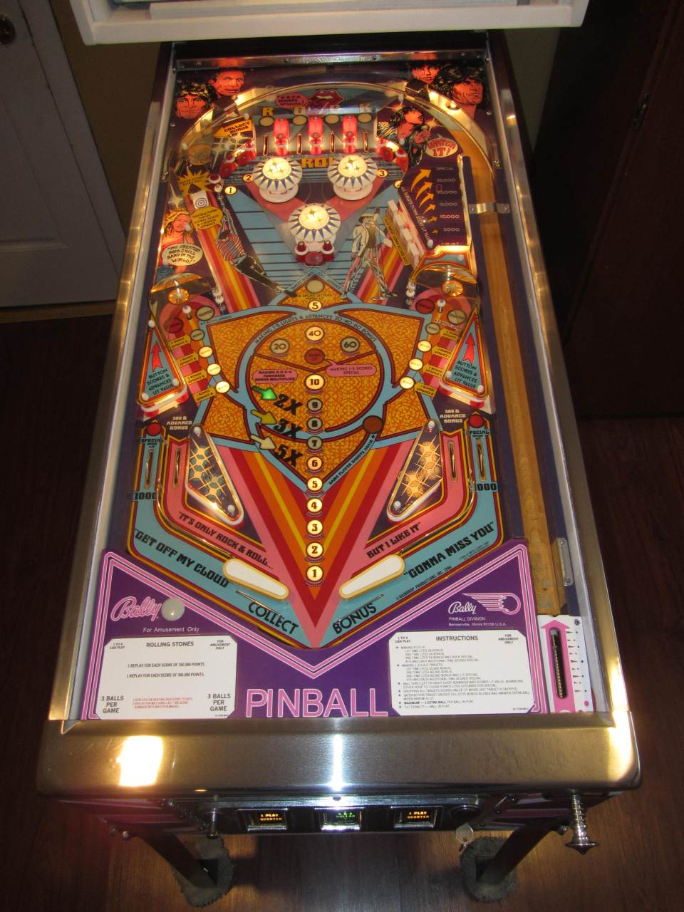 Bally Rolling Stones Pinball Machine 2 Pinballmania Llc